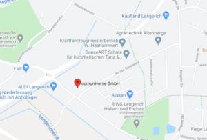 Google Maps - Anfahrt comuniverse GmbH
