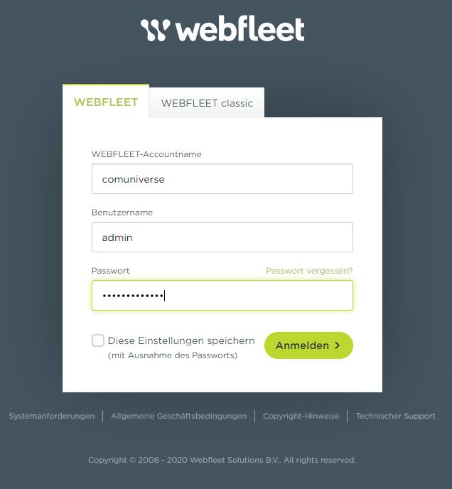 webfleet admin anmeldung