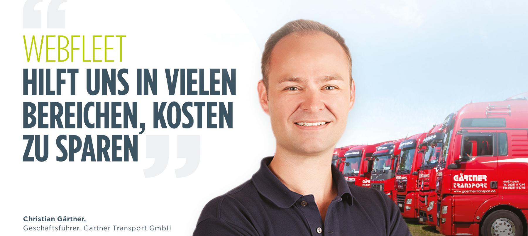 Webfleet Solutions - Christian Gärtner, Gärtner Transport GmbH